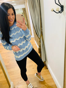 Rita Blue chevron jumper