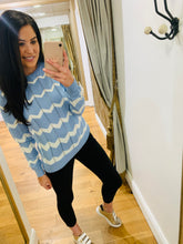 Load image into Gallery viewer, Rita Blue chevron jumper