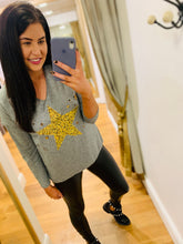 Load image into Gallery viewer, Leopard Star Knit (Grey)