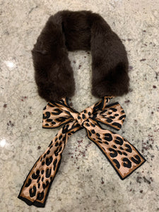 Silk & Fur Animal Print Scarf