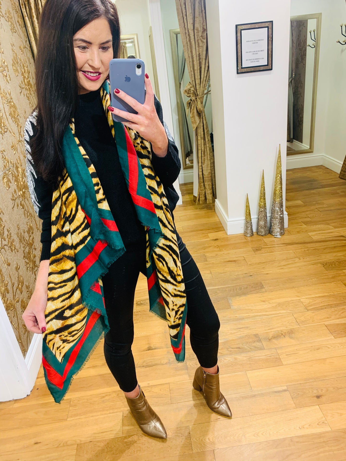 Gucci Inspired Scarf (Camel)
