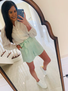 Mint High Waisted Shorts