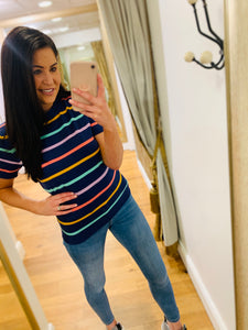 Anokie Striped knitted top