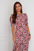 Load image into Gallery viewer, Valeria Ruffle Sleeve Midi Dress Multi Spot
