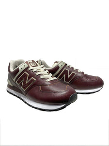 SNEAKERS BORDEAUX IN PELLE ML574LPB