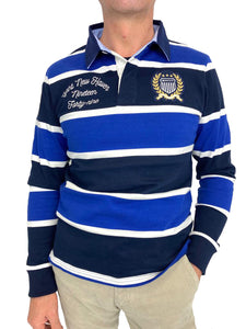 POLO RUGBY MANICHE LUNGHE A RIGHE 100% LANA