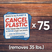75 sticker pack (removes 35 lbs. of plastic)