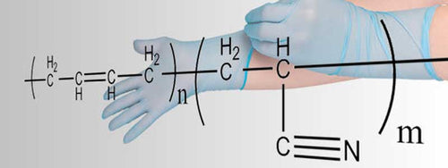 what are nitrile gloves  made from