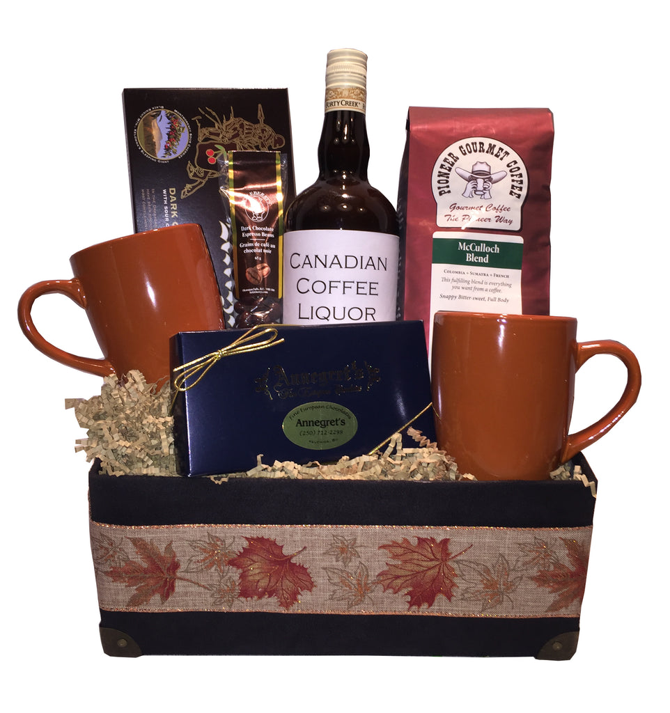 Chocolate & Coffee Lovers Basket - Liqueur