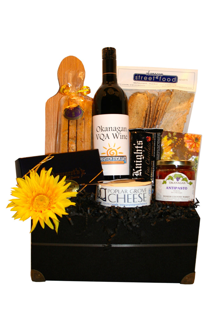Okanagan Elegance - Deluxe Wine & Cheese Basket