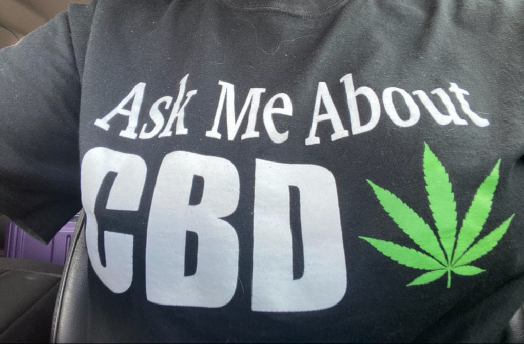 Ask me about CBD dry blend T-shirt