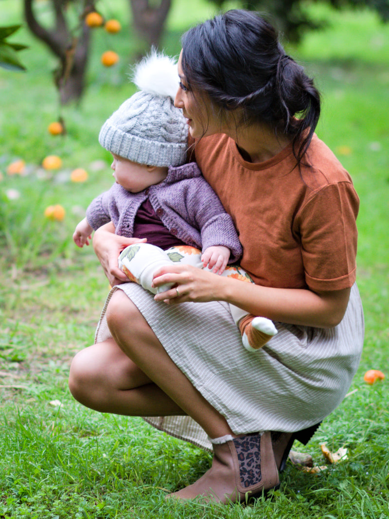 Breastfeeding Tshirt Organic Cotton/Hemp in Sienna