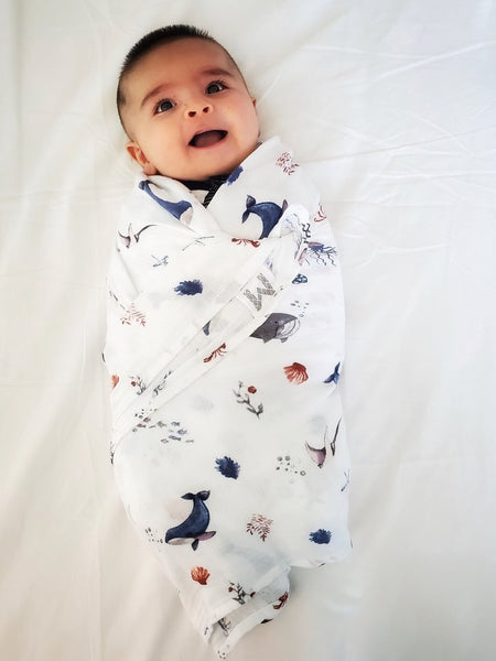 Malabar Baby- Under the Sea Organic Cotton Swaddle