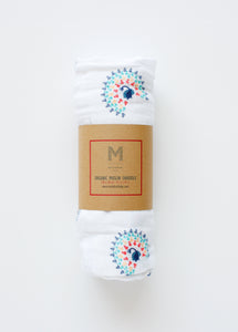 Malabar Baby- Peacock Organic Cotton Swaddle