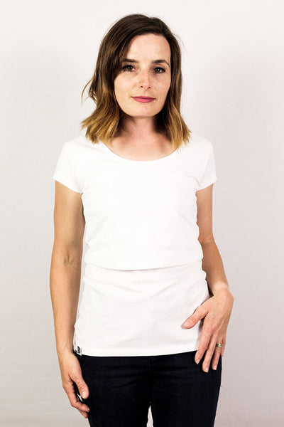 Organic Bshirt T-shirt in White