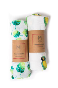 Malabar Baby- Tropisch Paradijs Organic Cotton Swaddle 2 pack