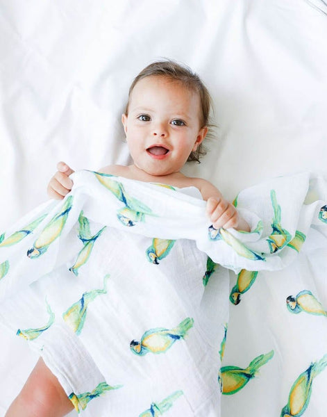 Malabar Baby - Parrot Organic Cotton Swaddle