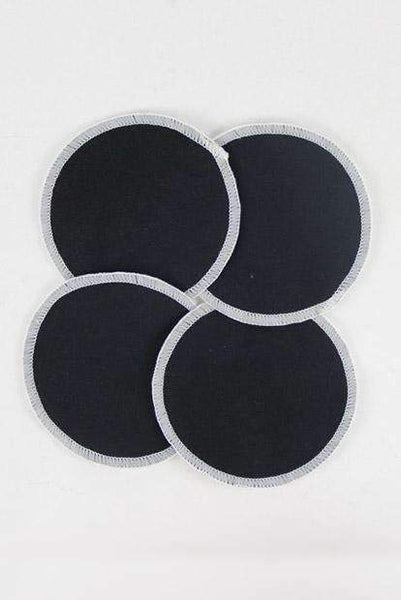 Washable Breastfeeding Pads, Black pads  (2 pairs - no wet bag)