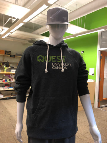 Quest Unisex Hoodie - Grey Embroidered