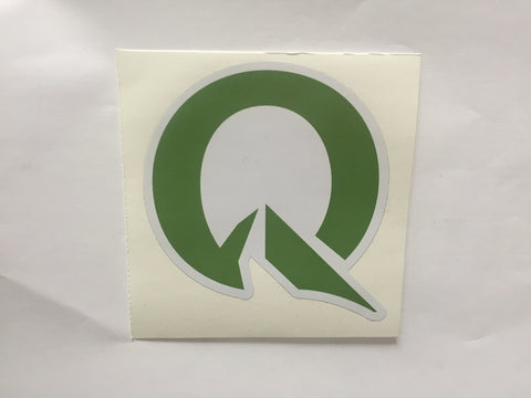 "Quest Sticker Lrg Plain Q 3""x3"""