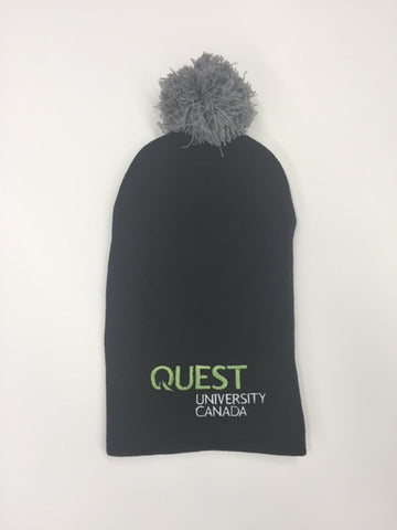 Quest Long Slouchy Toque with Pom Pom