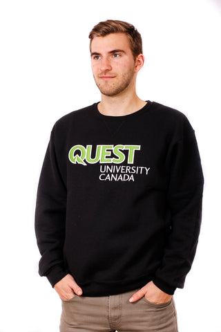 Quest Crewneck Sweatshirt with Twill & Embroidered Logo
