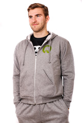 Quest Unisex Zip-Up Hoodie - Grey