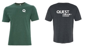 Quest Men's Cotton Green T-Shirt
