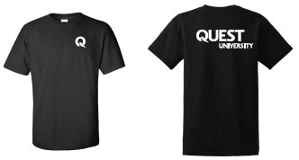Quest Men's Cotton Black T-Shirt
