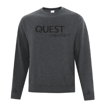 Quest Crew with Screen Print Logo - Grey