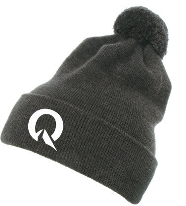 Quest Long Foldover Toque with Pom Pom