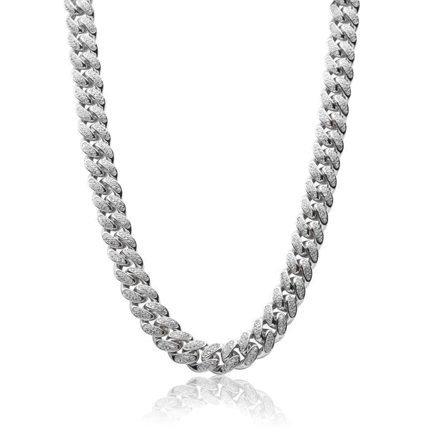 Local Diamond Cuban (White Gold)