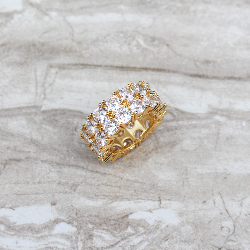 Double Layer Diamond Ring - Stay Gold Hawaii