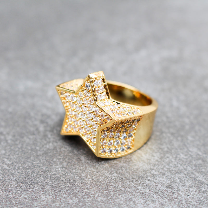 Diamond Star Ring - Stay Gold Hawaii