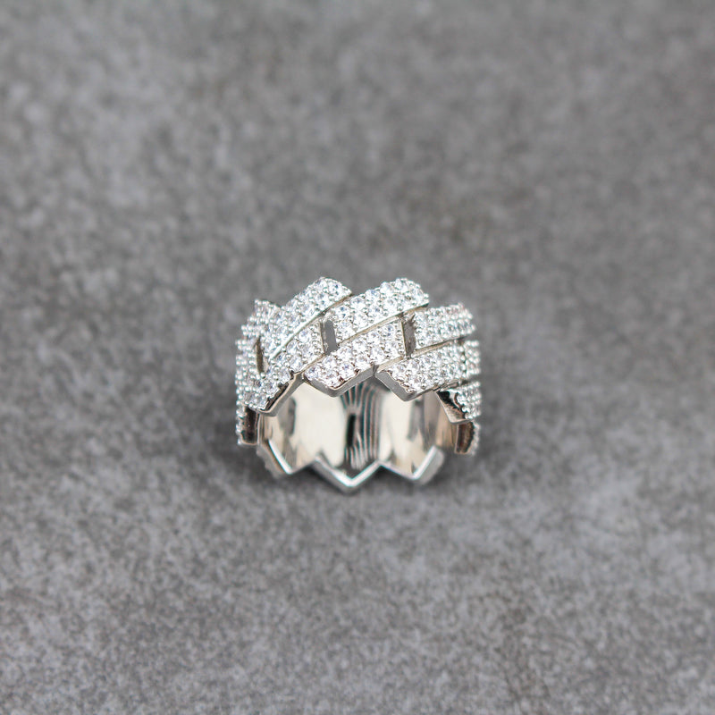 Diamond Cuban Prong Ring - Stay Gold Hawaii