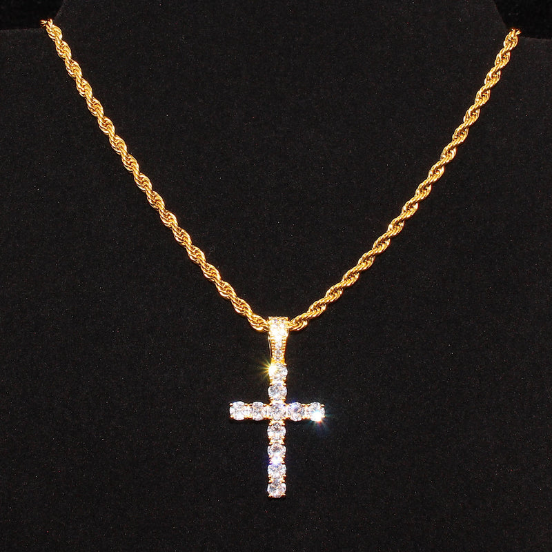 Tennis Cross Rope Chain - Stay Gold Hawaii