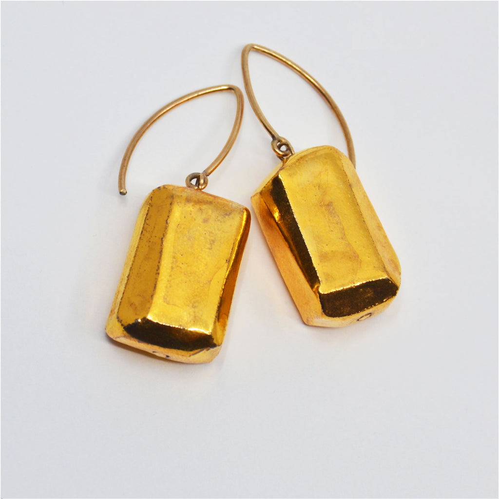 Gold Gem Earrings