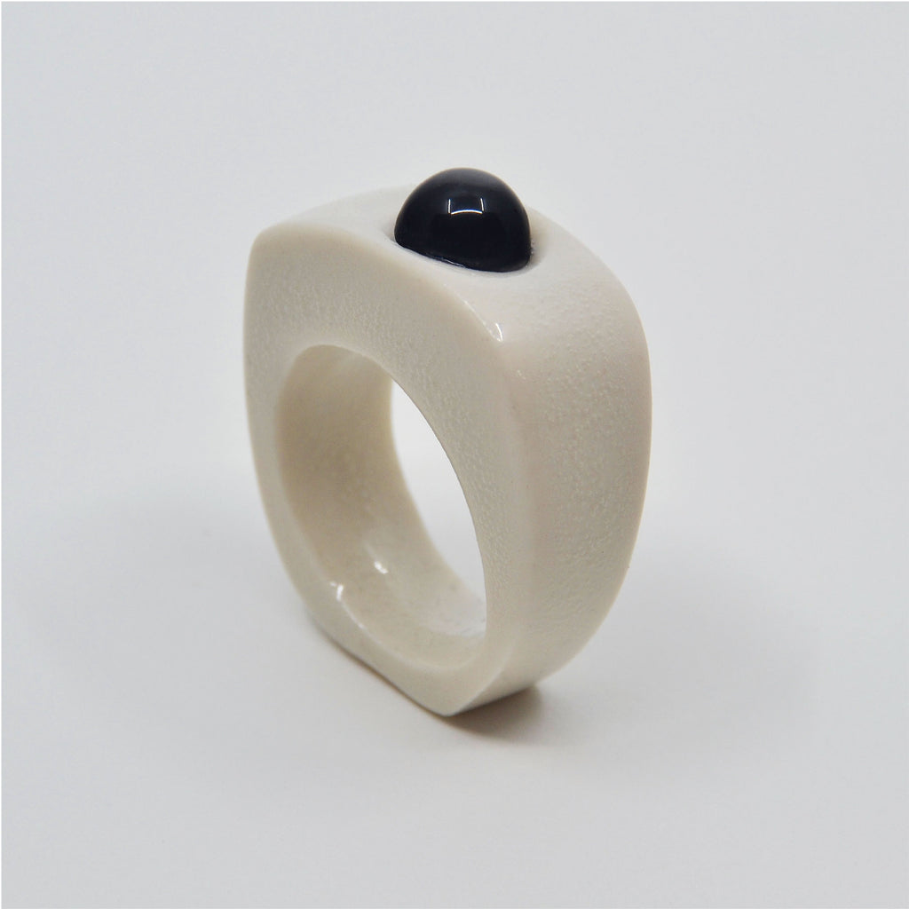 White Onyx Ring Size 8