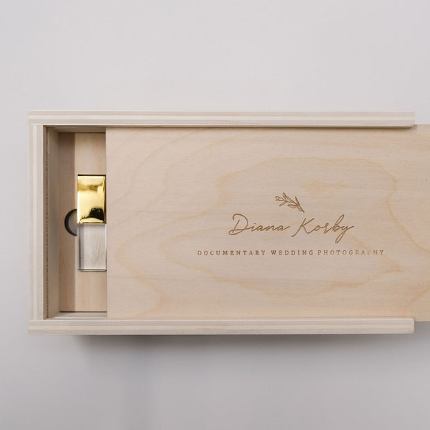 6x4 Natural Birch Print Box