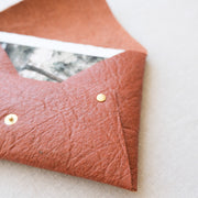 "7"" x 5"" Vegan Leather Print Pouch"