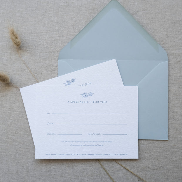 A6 Digital Print Gift Voucher with Digitally  Printed Envelope