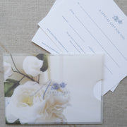 A6 Digital Print Gift Voucher with Digitally  Printed Vellum Pocket