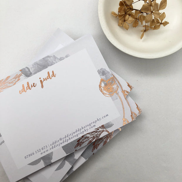 A6 Digitally Foiled & Digitally printed Thank you Cards (Single Sided)