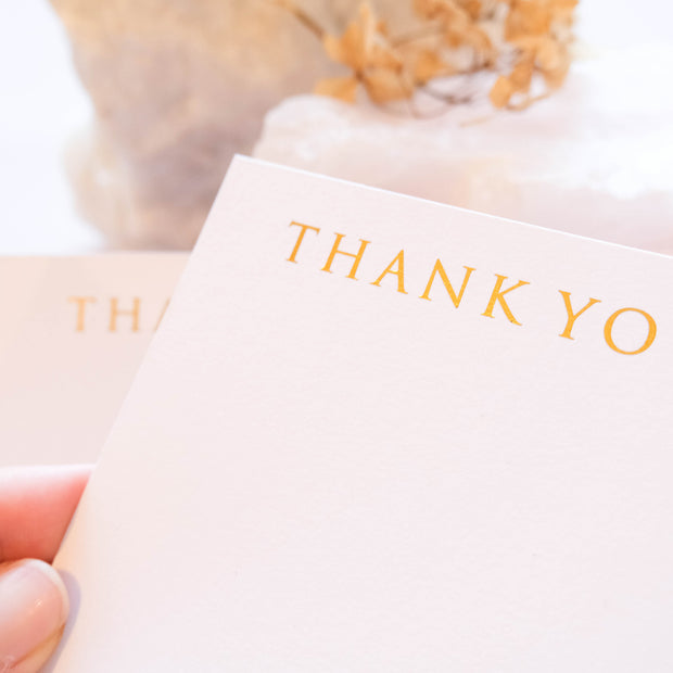 A6 Digitally Foiled Thank you Cards (Single Sided)