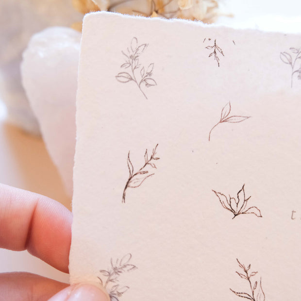 A6 Handmade Paper Thank you Cards (Single Sided)