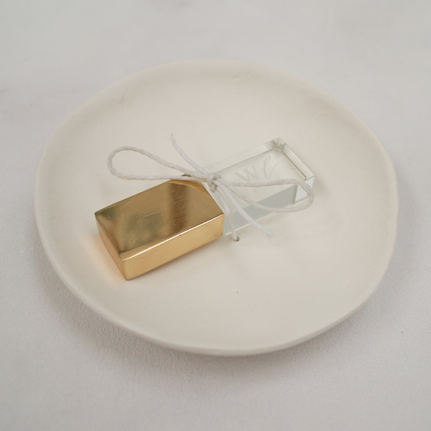 Clay USB Bowl, With Vellum Box & Gold Foiled Tag