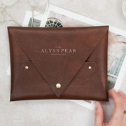 "7"" x 5"" Faux Leather Print Pouch"