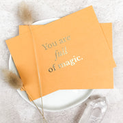 A6 Foil Pressed Quote Card, with Digital Print Thank You Note On Reverse