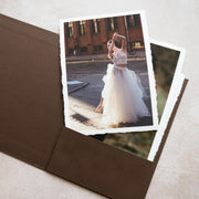 Handcrafted Coffee Brown Buckram Print Folio (Foiled Logo)