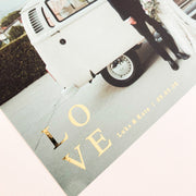 The LOVE Foiled Caption Print